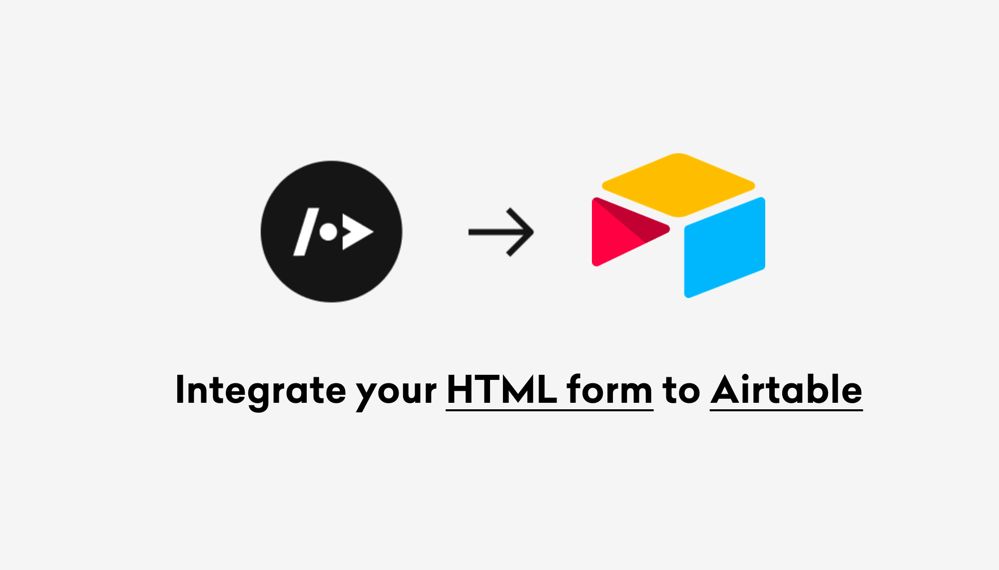 How to integrate your HTML form to Airtable