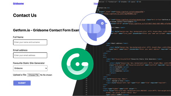 Adding a contact form to Gridsome site using Getform