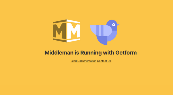 How to make a contact form in Middleman using Getform
