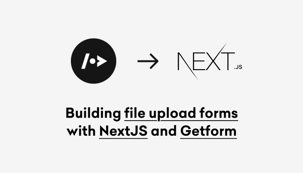 Building forms with Next.js and Getform